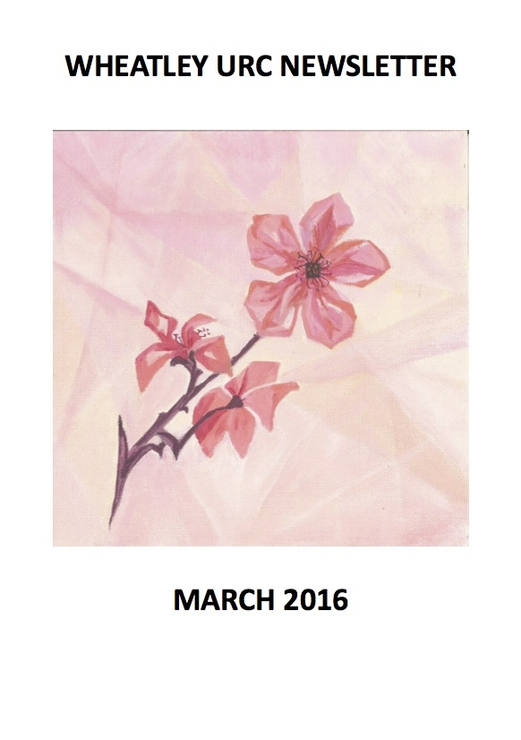 WURC Newsletter Cover March 2016