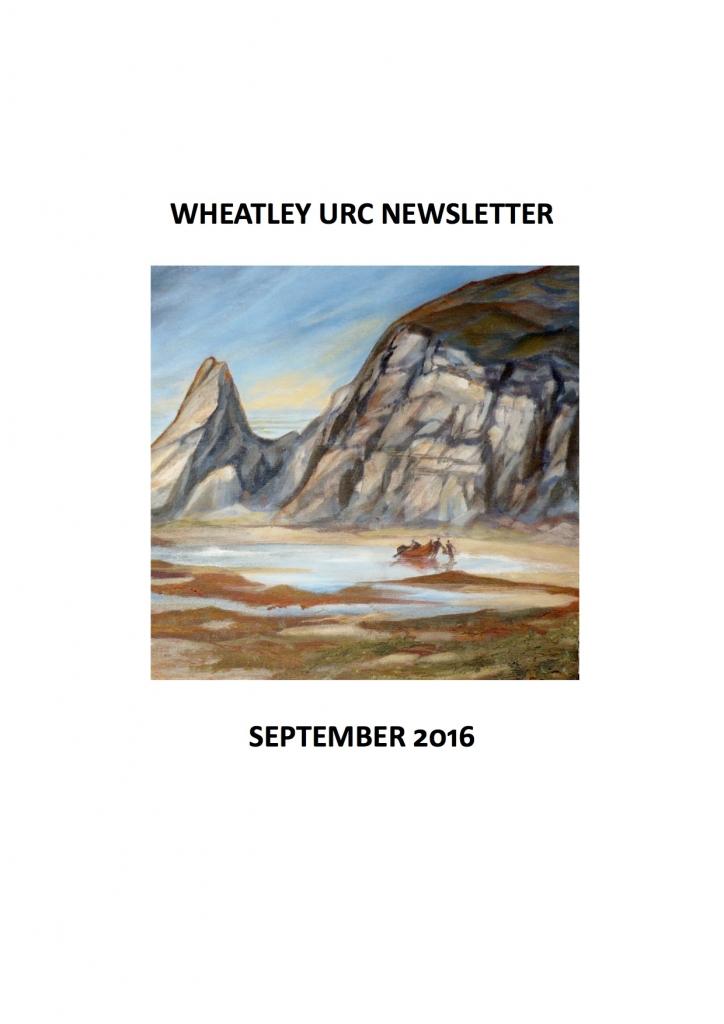 WURC Newsletter Cover September 2016