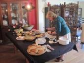 Christine preparing lunch
