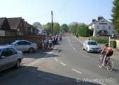 Procession down Ladder Hill