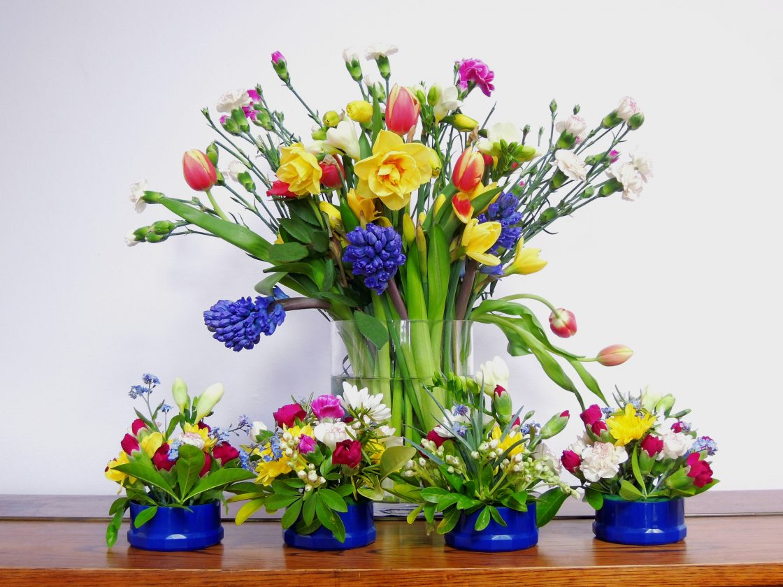Easter Flowers - Photograph by Carolyn Wheeler