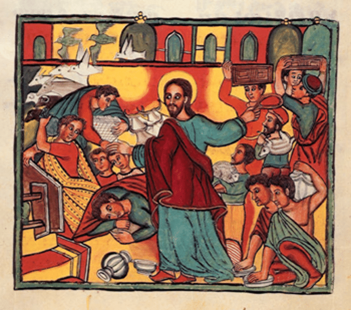 The Cleansing of the Temple - C17 Ethiopian